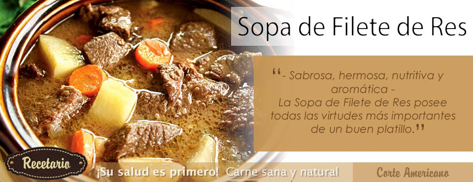 Sopa de Filete de Res