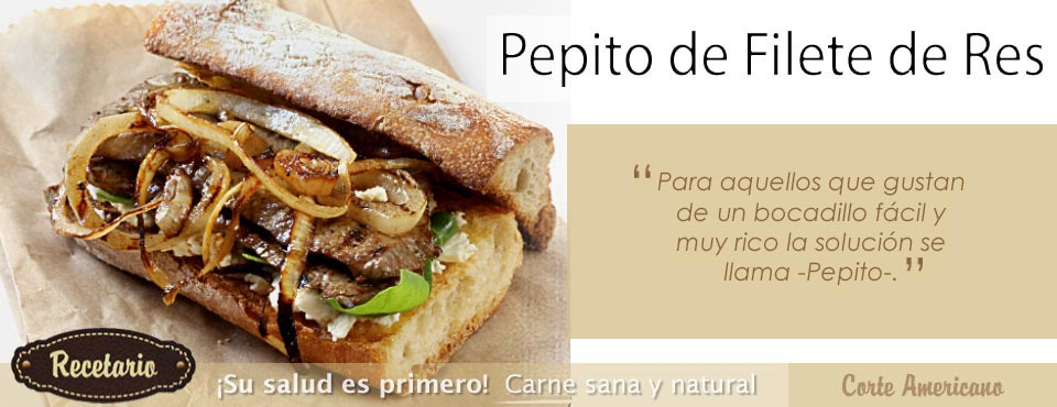 Pepito de Filete de res