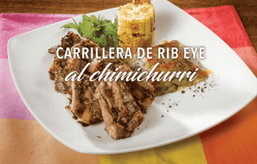 Carrillera de Rib Eye al Chimichurri